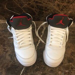 5.5 Jordan's 5 White Cement